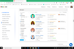 zoho crm views and filters